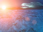 Sky sun clouds sea — Stock Photo