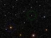 Sky stars constellation — Stock Photo