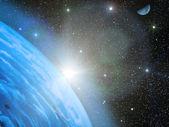 Sky stars Earth — Stock Photo