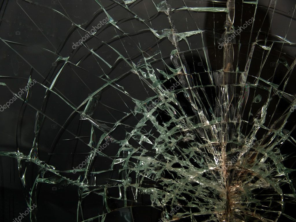 Cracks  glass  broken — Stock Photo #1820269