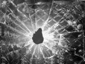 穴の厚いガラス — ストック写真