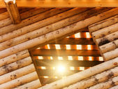 Wall house log — Stock Photo