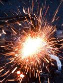 Cutting metal — Stock Photo