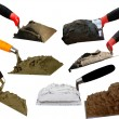 Tools  building  shovel — Stockfoto