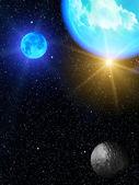Sky stars planets — Stock Photo