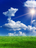Sun sky clouds landscape — Stock Photo