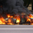Burning car — Stock Photo #1249595
