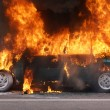 Royalty-Free Stock Photo: Burning car