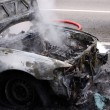 Fire Damaged Car — Stock Photo