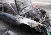 Fire Damaged Car — Stock Photo