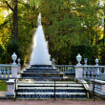 Peterhof. The fountain Pyramide — Stock Photo #1248772