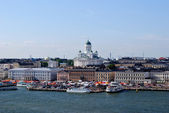 View of of the city of Helsinki from the sea. — Foto Stock