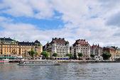 Stockholm. The quay Strandvagen — Stock Photo