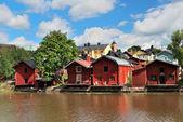 Porvoo. Medieval barns — Stock Photo