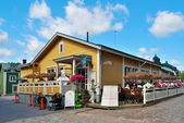 Porvoo. A small cafe in the Old Town. — Stock Photo
