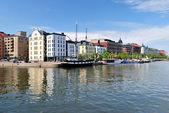Helsinki. Severní nábřeží — Stock fotografie