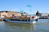 Helsinki. Excursion boats — Stock Photo