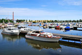 Yachts and boats of Kotka, Finland — 图库照片