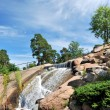 Waterfall in the Park Sapokka. Finland. — Stock Photo