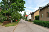 A quiet street in Lappeenranta, Finland — Stock Photo