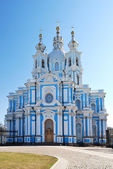 Smolny Cathedral. St.Petersburg — Stock Photo