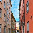 Stockholm. A narrow street - Stock Photo