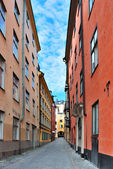 Stockholm. A narrow street — Stock Photo