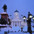 Helsinki in the twilight - Stock Photo