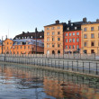 Sunny evening in Stockholm — Stock Photo