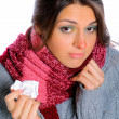 Young woman affected by cold — Stock Photo