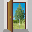 Royalty-Free Stock Photo: Open door 2