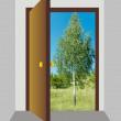 drzwi otwarte 2 — Zdjęcie stockowe