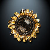 Sunflower pendant — Stock Photo
