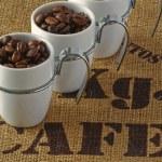 Three coffee cups — Stock Photo
