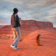 Stock Photo: Staring at Monument Valley, 2004