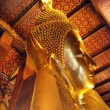 Buddha Statue in a Bangkok Temple, Thail — Stock Photo