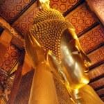 Buddha Statue in a Bangkok Temple, Thail — Stock Photo