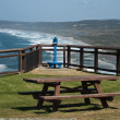 Foto Stock: Bench on Paradise, Byron Bay, Australia,