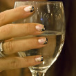 Hands on a Glass of Wine, 2009 — Stock Photo