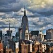 New York City from Brooklyn Bridge - Stock Photo