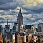 New York City from Brooklyn Bridge — Stock Photo