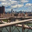 New york city dal ponte di brooklyn — Foto Stock
