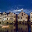 Nantucket Homes - Stock Photo