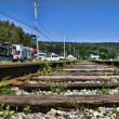 Stock Photo: Railway in Quebec
