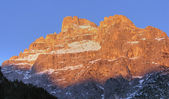 Dolomites Mountains at Sunset, Italy, Fe — Stock Photo