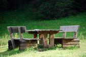 Park bankında, val visdende, i̇talya, ağustos — Stok fotoğraf