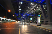 Bangkok Airport at Night, August 2007 — Stock Photo