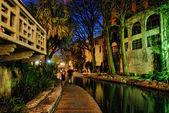 San Antonio by Night, Texas, U.S.A. — Stock Photo