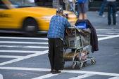 Homeless in New York City, 2008 — Stock Photo