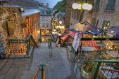 魁北克的街 — 图库照片